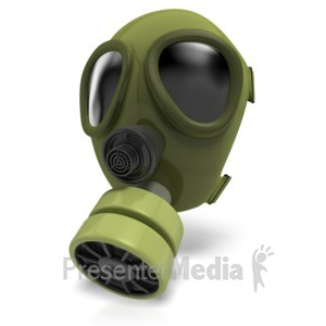 ID# 8933 - Gas Mask Radiation - Presentation Clipart