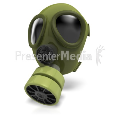 Gas Mask Radiation PowerPoint Clip Art