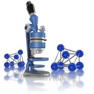 ID# 8944 - Microscope And Molecules - Presentation Clipart