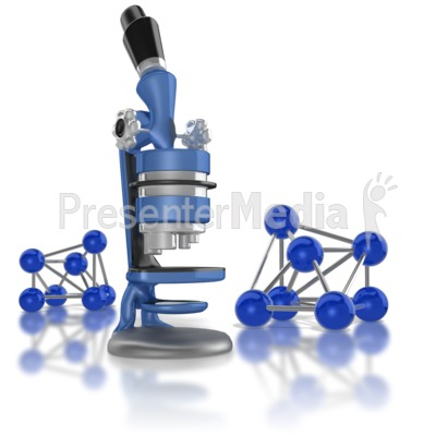 Microscope And Molecules PowerPoint Clip Art
