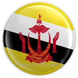 ID# 8984 - Badge of Brunei - Presentation Clipart