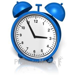ID# 8987 - Alarm Clock - Presentation Clipart