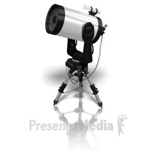 ID# 8988 - Telescope - Presentation Clipart