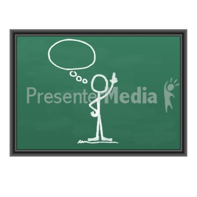 Chalk Figure Blank Idea Bubble PowerPoint Clip Art