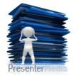 ID# 9006 - Mountain Of Work - Presentation Clipart