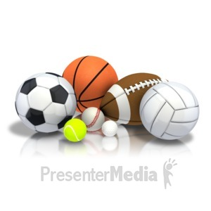 ID# 9020 - Group Array Sports - Presentation Clipart