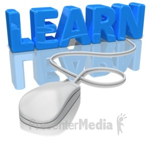 ID# 9028 - Learn Mouse - Presentation Clipart