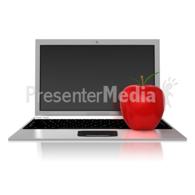 Teachers Computer PowerPoint Clip Art