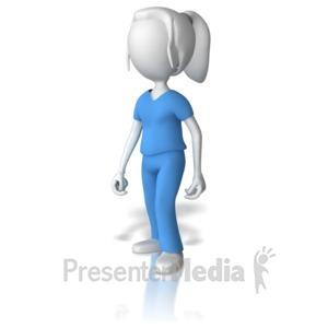 ID# 9033 - Female Nurse - Presentation Clipart