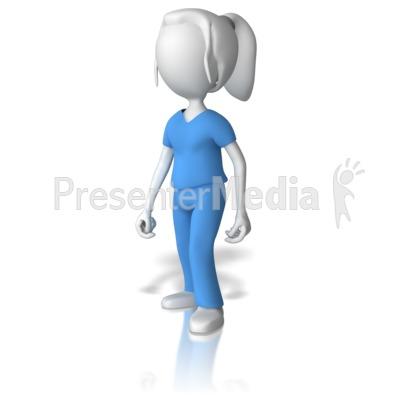 Presenter media powerpoint templates 3d animations and clipart id 9033 female nurse presentation clipart toneelgroepblik Images