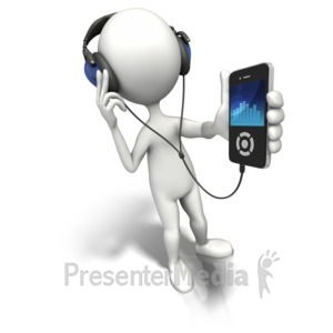 ID# 9035 - Enjoy The Music - Presentation Clipart