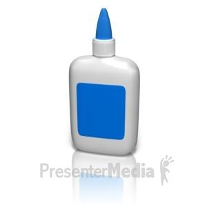 ID# 9037 - Glue Bottle Blank - Presentation Clipart