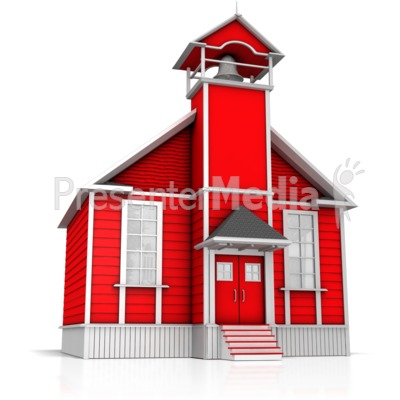 Old Fashion School House PowerPoint Clip Art
