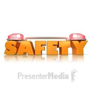 ID# 9050 - Safety Siren Alert - Presentation Clipart