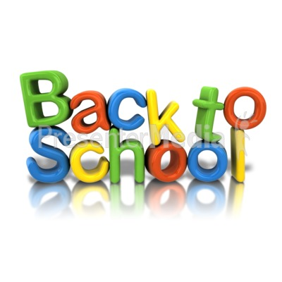 Back To School Text PowerPoint Clip Art