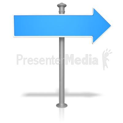 Blank Street Sign PowerPoint Clip Art