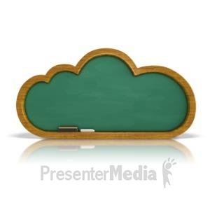ID# 9063 - Chalkboard Cloud - Presentation Clipart