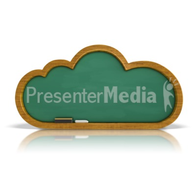 Chalkboard Cloud PowerPoint Clip Art