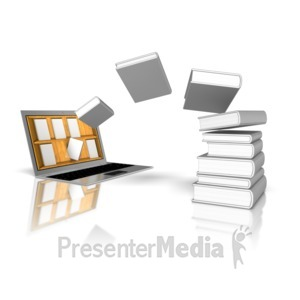 ID# 9076 - Download Books Online Library - Presentation Clipart