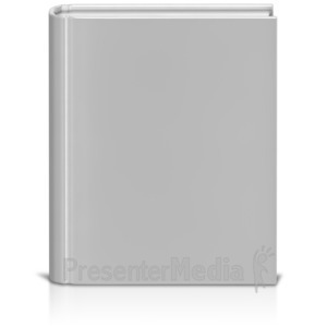 ID# 9079 - Front Facing Book White - Presentation Clipart