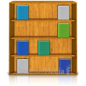 ID# 9080 - Bookshelf Display - Presentation Clipart