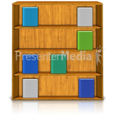 Good Bookshelf Display PowerPoint Clip Art