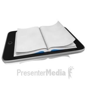ID# 9085 - E Reader Book - Presentation Clipart