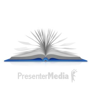 ID# 9086 - Open Book Pages - Presentation Clipart