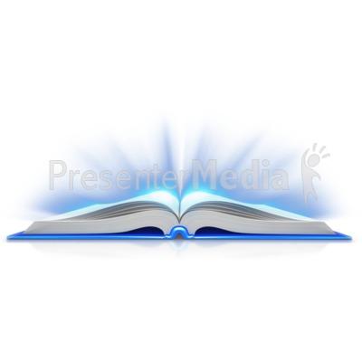 Book Open Light Shine Out PowerPoint Clip Art