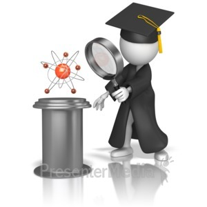 ID# 9096 - Graduate Studying Science - Presentation Clipart