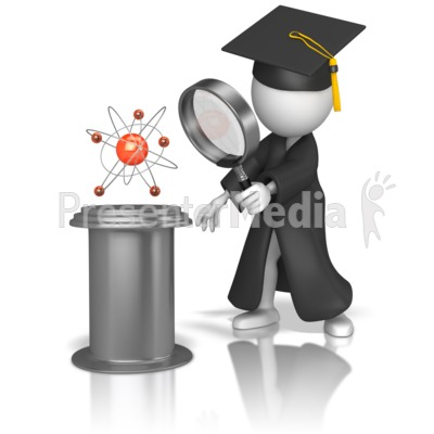 Graduate Studying Science PowerPoint Clip Art