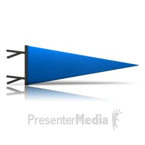 ID# 9097 - Sports Pennant - Presentation Clipart