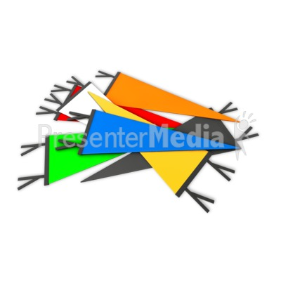 Pile Sports Pennant PowerPoint Clip Art
