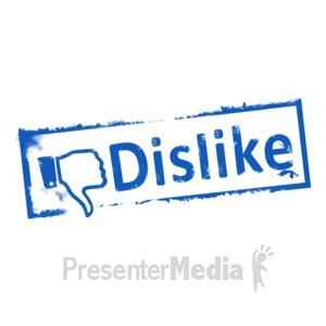 ID# 9113 - Dislike Ink Stamp - Presentation Clipart