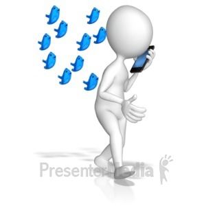 ID# 9116 - Talking With Your Followers - Presentation Clipart
