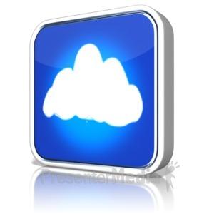 ID# 9122 - Cloud App - Presentation Clipart