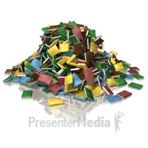 ID# 9134 - Book Pile - Presentation Clipart