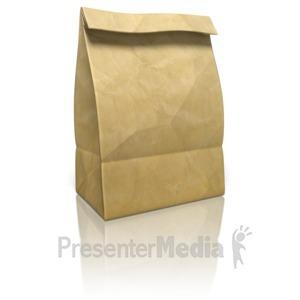 ID# 9137 - Paper Bag - Presentation Clipart