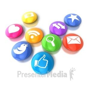 ID# 9139 - Circular Social Media Icons - Presentation Clipart