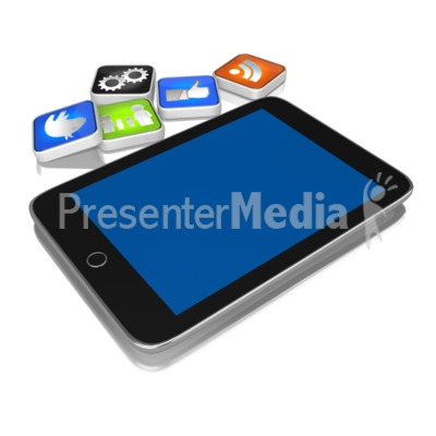 App On The Ground PowerPoint Clip Art