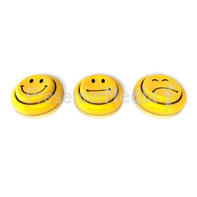 How Are You Feeling Button PowerPoint Clip Art