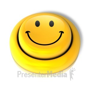 ID# 9149 - Smiley Face Smile Button - Presentation Clipart