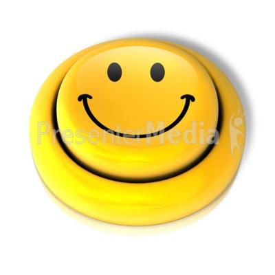 Smiley Face Smile Button PowerPoint Clip Art