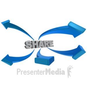 ID# 9150 - Share Arrows - Presentation Clipart