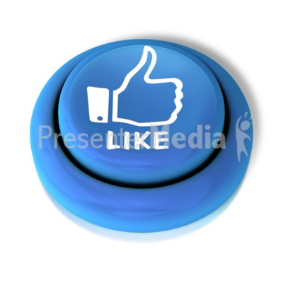 Like Thumbs Up Button PowerPoint Clip Art