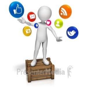 ID# 9159 - Talking Social Media - Presentation Clipart