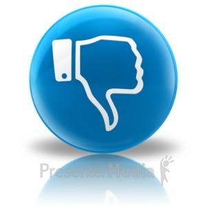 ID# 9164 - Media Icon - Dislike - Presentation Clipart