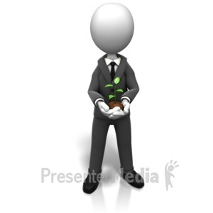ID# 9165 - Business New Growth - Presentation Clipart