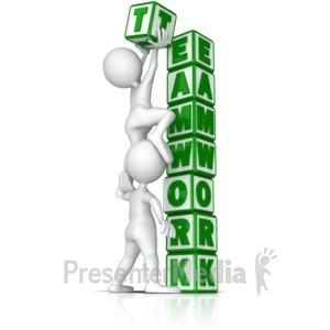 ID# 9174 - Building Teamwork - Presentation Clipart