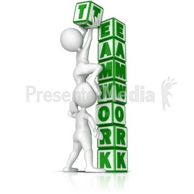 Building Teamwork PowerPoint Clip Art